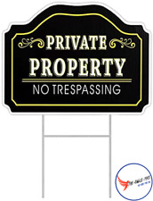 Private Property Sign No Trespassing Warning Posted Metal Security Signs Outdoor