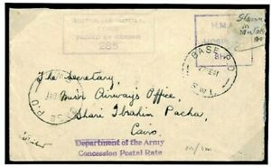 AUSTRALIA HOSPITAL SHIP WW2 Cover *Stamped By Mistake* Stamp Removed 1941 M100a
