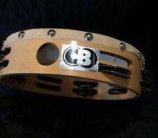 "Cb Tambourine-8""-Wood Ring Frame-Skin Head-Percussion Music Instrument-Jingle"