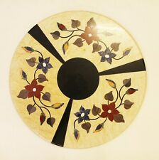 Table Top Dining Center Restaurant Floral Inlay Italian Marble Stone Replica Art