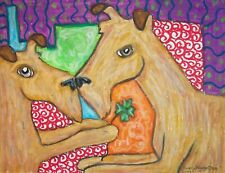 Irish Terrier Dog Pop Art Giclee Print 8x10 Collectible Signed by Artist Ksams