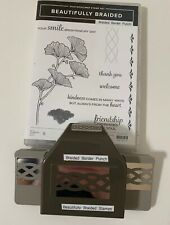 "STAMPIN' UP!  ""BEAUTIFULLY BRAIDED"" STAMP SET & ""BRAIDED"" BORDER  PUNCH."