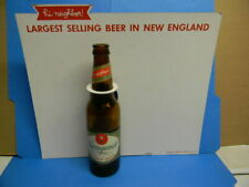 1962 NARRAGANSETT BEER BOTTLE DISPLAY SIGN LARGEST SELLING BEER IN NEW ENGLAND