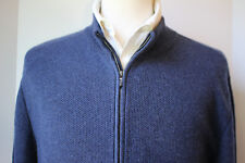 WOW Mens Loro Piana Vicuna Baby Cashmere Bomber Sweater Jacket 48 XXXL Italy 58