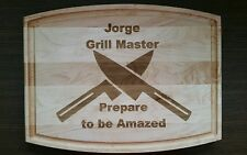 Personalized Maple Cutting Board for kitchen grill master chef company gift