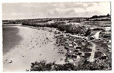 CPSM PF 29 - LOCQUIREC (Finistère) - Plage du fond de la Baie et le Camping