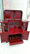 Chinese Oriental Ming Rosewood liquor Bar Cabinet Cupboard