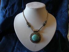 Turquoise Alloy Bib Fashion Necklaces & Pendants