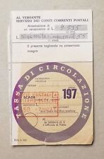 66755 86 Bollo auto Tassa di circolazione 1977 - Fiat 1500