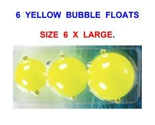 6 LARGE YELLOW BUBBLE FLOATS FOR SEA GAME COARSE TROUT FLY ROD REEL LINE FISHING