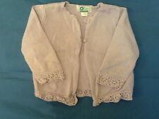 Baby Girls 9 Months - Lilac Cotton Knit Cardigan - Vertbaudet