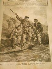 Gravure 1884 - Chasses et pêches au Canada
