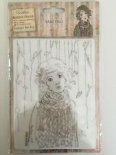 docrafts Santoro London - Willow Rubber Stamp Set - Souvenir D'Hiver NEW