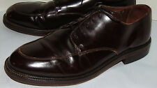 MEN'S BROOKS BROTHERS BROWN LEATHER LACE-UP DRESS SHOES/BLUCHER! ITALY! 11 D