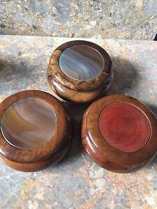 Handmade Agate Topped Wooden Box, Trinket Jewellery Box, Gift Idea,