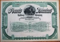 'Peoria Terminal Railway Co.' 1890 Railroad Stock Certificate - Illinois IL