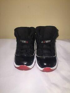 """Jordan Air Jordan 11 Retro """"Bred"""" (Black) toddler Size 8C"""
