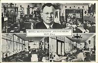 Elst Rhenen Utrecht alte Mehrbildkarte ~1950/60 Innenansichten Hotel Stuyvenberg