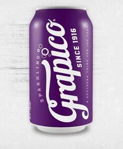 Grapico Soda  12 (12 oz) Cans Pack Grape Soda Pop A Southern Tradition