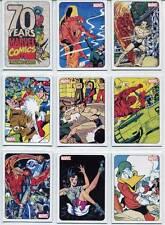 70 Years of Marvel 70th Anniv. Rittenhouse Full 72 Card Set + 9 Card Tribute Set