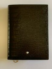 MONTBLANC Meisterstück Leather Wallet in Dark Brown with Small Fine Notebook