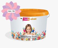 Wandfarbe Farbe-direkt Wohnbunt matt farbig LILA ROSA Innenfarbe