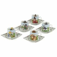 Official Cardew Alice in Wonderland Porcelain 3 oz Tea Party Cup and Saucer Set