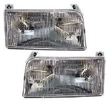 1992 - 1996 FORD F-150 / BRONCO HEADLIGHTS HEADLAMPS LIGHTS LAMPS PAIR