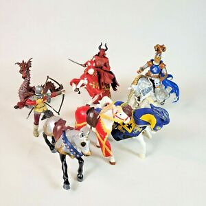 Papo Knights Horses Dragon Medieval Knight Toy Action Figure Lot of 9