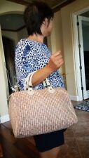 Authentic Louis Vuitton Mini Lin Monogram Pink Speedy Satchel Handbag 30cm