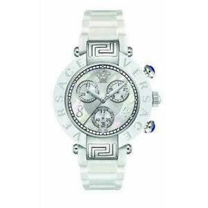 New Versace Reve 92CCS1D497 S001 Ceramic Chrono 40MM Quartz Steel MOP Watch