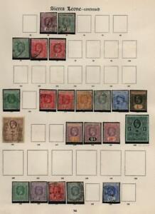 SIERRA LEONE: Edward VII-George V - Ex-Old Time Collection - Album Page (40601)
