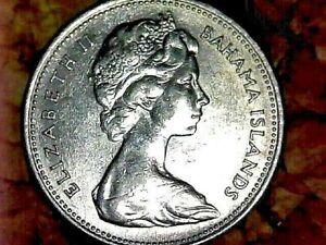1966 BAHAMA ISLANDS TWENTY FIVE CENT NICKEL COMPOSITON COIN KM# 6