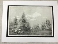 1853 Print British Royal Navy Flagship HMS Duke of Wellington Original Antique