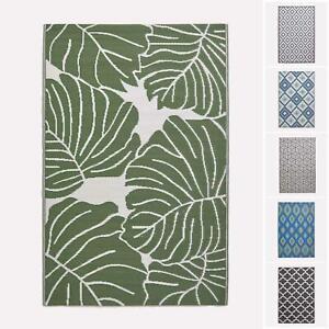 Indoor/Outdoor Waterproof Plastic Large Rug Garden Patio Leaf Geometric Pattern