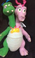 """Playskool Dragon Tales Zak & Wheezie 12"""" Plush Stuffed Animal Talking Light Up"""