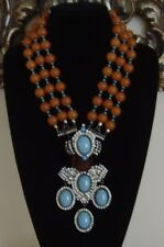 VRBA Buddha Necklace and Earring Set