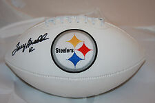 Terry Bradshaw Autographed Steelers Logo White Panel Football PSA ITP