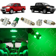 11x Green LED Interior Lights Package Kit fits 2004-2015 Nissan Titan NT1G