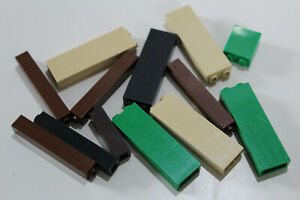 LEGO 13 Paneele Säule Wand Stütze 2453 2454 tan grün braun schwarz #1830