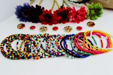 Anklet / Ankle Bracelet - Beaded Handmade Foot Chain Opaque Seed Beads