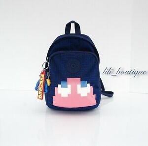 NWT Kipling KI4388 Delia Compact Mini Backpack Convertible Crossbody Pac-Man 109