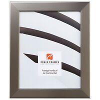 "Craig Frames Bauhaus, 1.25"" Modern Stainless Silver Picture Frame"