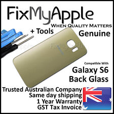 Samsung Galaxy S6 G920 Gold Back Glass Rear Cover Battery Housing Door Panel