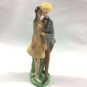 VTG Wilton Plastic Cake Topper 1973 Summer Wedding Boater Hat Grooms Cake