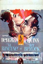 VISIT Belgian movie poster 1964 ANTHONY QUINN INGRID BERGMAN RAY ELSEVIERS