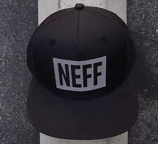 New Neef Skateboard Team Reflective Black Mens Snapback Hat One Size HTNEF-1