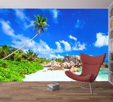 Cielo Y Mar Playa Tropical árbol rocas Foto Wallpaper Mural Casa Habitación Deco