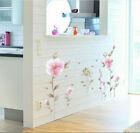 Removable Lucky Pink Flower Wall Sticker Art Wallpaper Wall Decal Home Decor Eh
