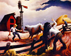 Thomas Hart Benton Photographing The Bull Canvas Print 16 x 20   #7755